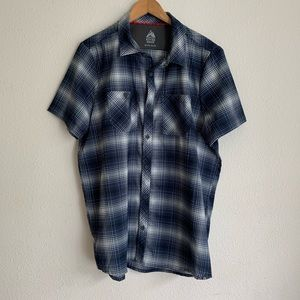River edge plaid plaid button down short sleeve
